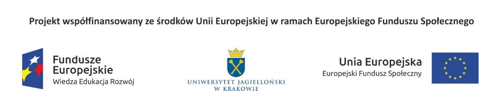 Projekt współfinansowany ze środków Unii Europejskiej w ramach Europejskiego Funduszu Społecznego. Wartość projektu: 1 202  647,65 zł. Kwota dofinansowania z EFS: 1 166 557,65 zł. Fundusze Europejskie. Wiedza, Edukacja, Rozwój.